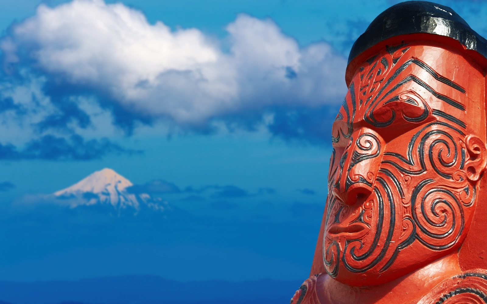 Traditional maori carving, New Zealand