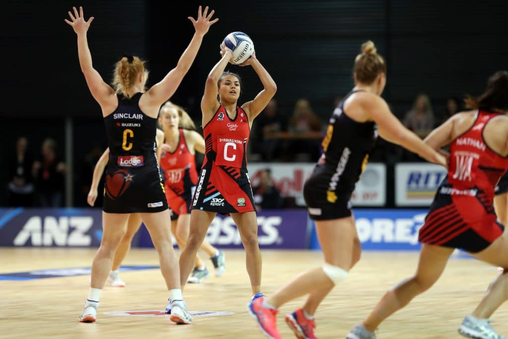 Tactix player Kimiora Poi in action