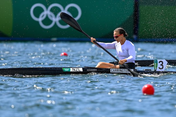 Lisa Carrington in her K1 200 semi-final at the Tokyo 2020 Olympics